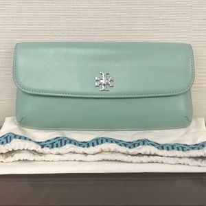 Tory Burch Diana Large Turnlock Clutch Mint Green